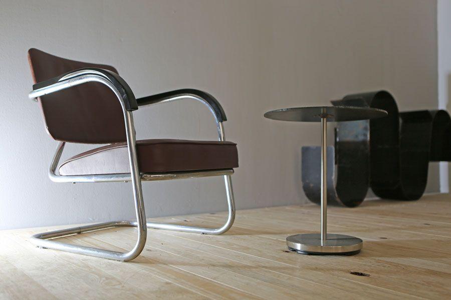 20er Jahre Sessel/ Beistelltisch ( Eigenbau )