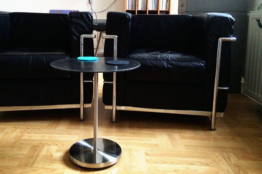 Retro-Sitzgruppe im Corbusier-Stil